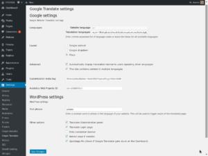 Google Translate - Settings